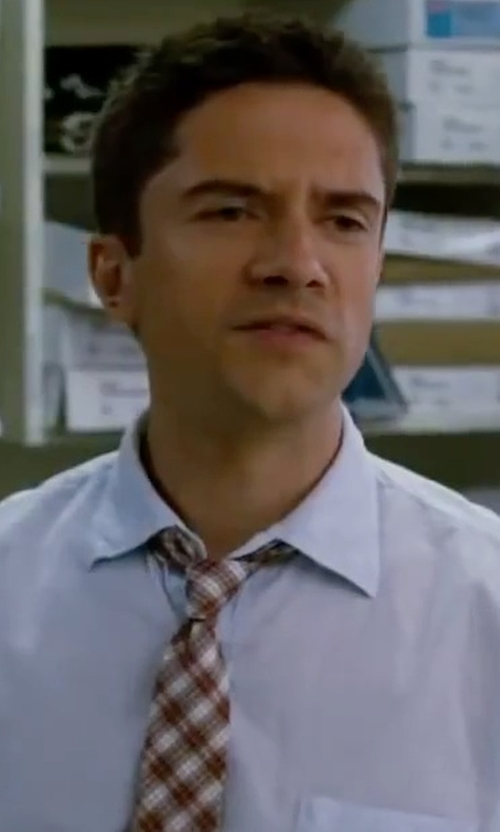 Topher Grace with Retreez Tartan Check Styles Microfiber Tie in Valentine's Day