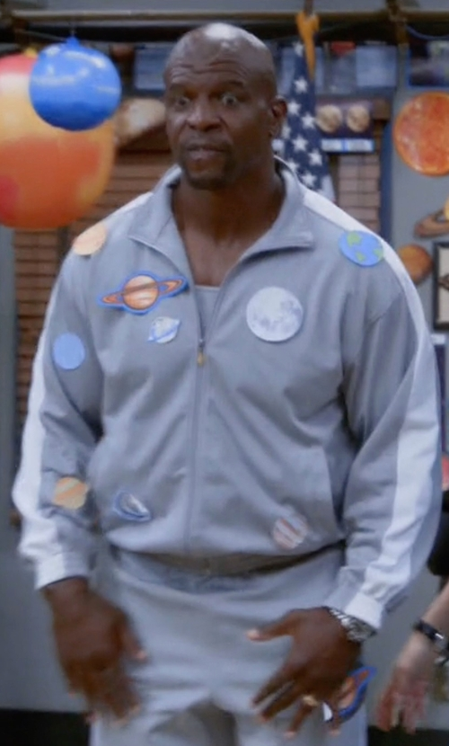 Terry Crews with Polo Ralph Lauren Zipped Track Jacket in Brooklyn Nine-Nine
