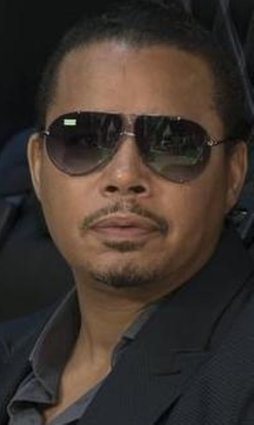 Terrence Howard  with Yves Saint Laurent 'Y' Logo Aviator Sunglasses in Empire