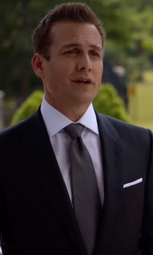 Gabriel Macht with Boss Hugo Boss Pindot Silk Tie in Suits