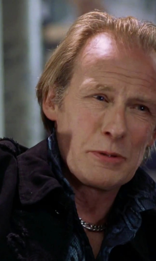 Bill Nighy with Société Anonyme Herringbone Denim Jacket in Love Actually