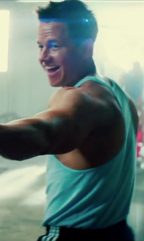 Mark Wahlberg with Sun Gym Men's Tank Top Muscle Stringer in Pain & Gain