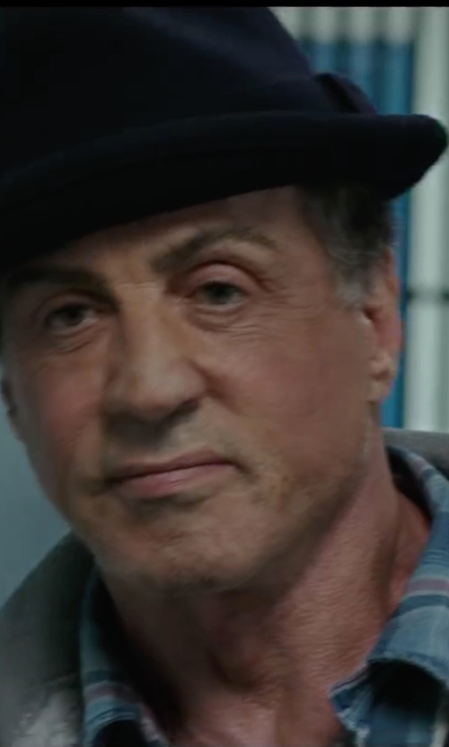 Sylvester Stallone with The North Face Short Sleeve Solar Plaid Shirt in Creed