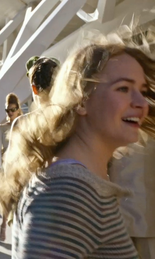Britt Robertson with Paige Celia Tank Top in Tomorrowland