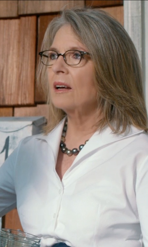 Diane Keaton with Stella McCartney Oversized Square Glasses in And So It Goes