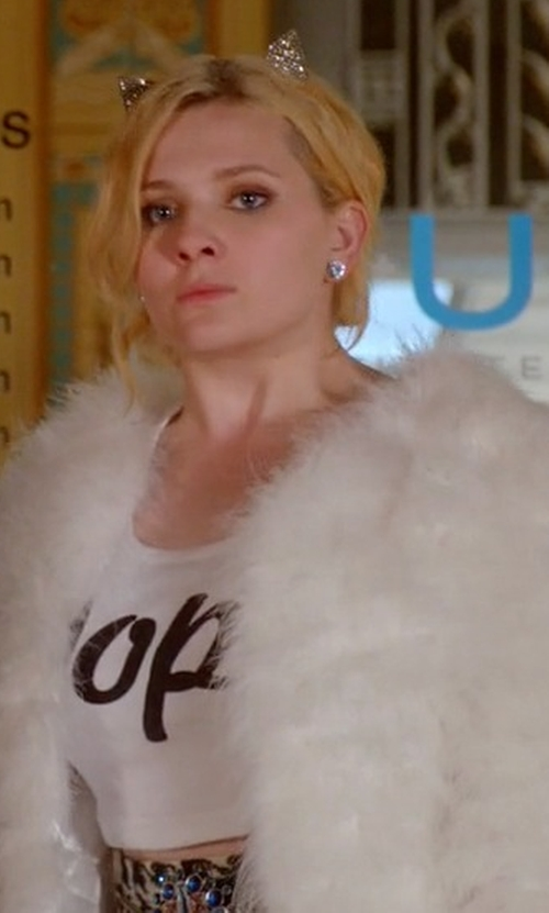 Abigail Breslin with Stampd LA Dope Crop Top in Scream Queens