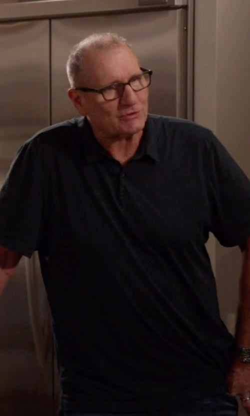 Ed O'Neill with Boss  Treviso Mercerized Jersey Polo Shirt in Modern Family