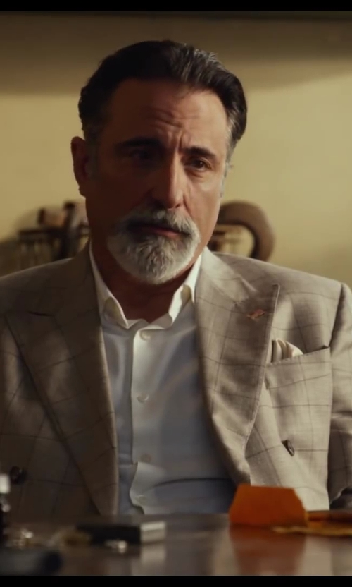 Andy Garcia with Boglioli Checked Blazer in Let's Be Cops