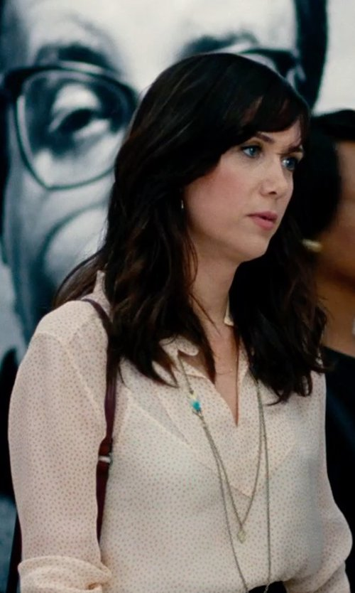 Kristen Wiig with Argento Vivo Rondelle & Chain Long Necklace in The Secret Life of Walter Mitty
