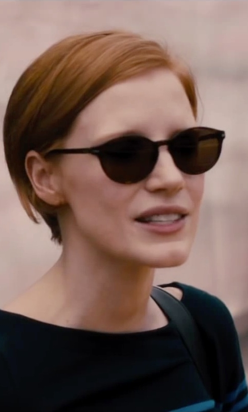 Jessica Chastain with Gucci Slight Cat Eye Sunglasses in The Disappearance of Eleanor Rigby