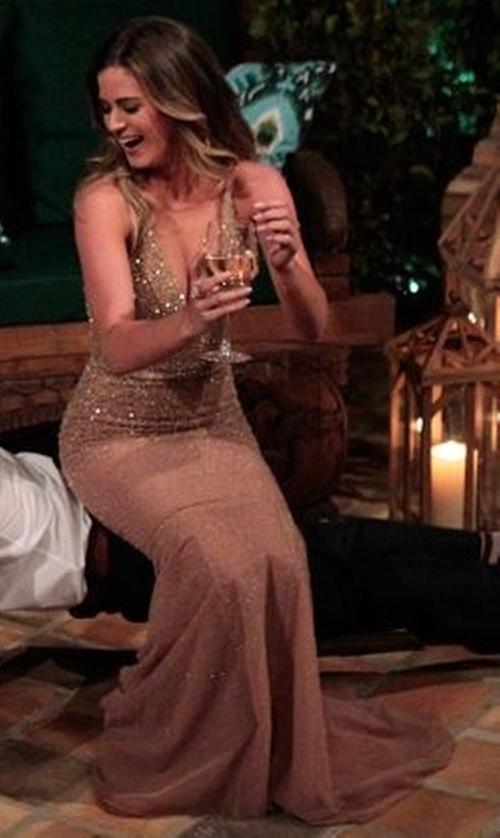 JoJo Fletcher with Randi Rahm Fall 2014 Diamond Gown in The Bachelorette