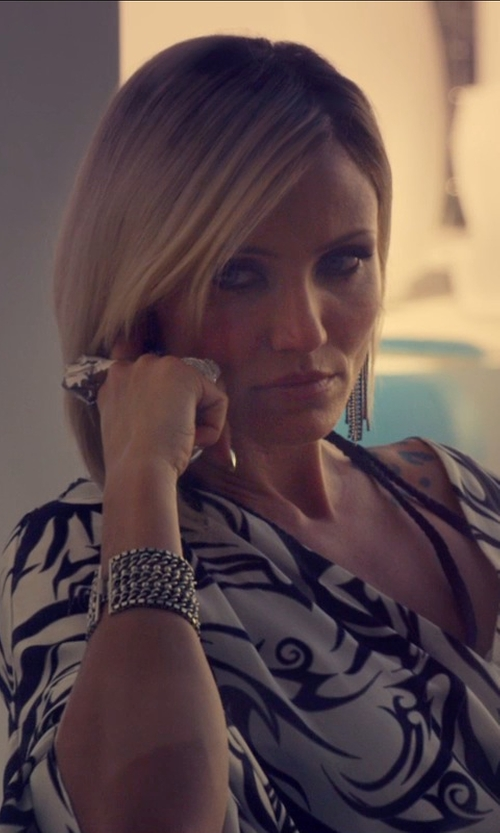 Cameron Diaz with Bloomingdale's Amethyst Diamond Large Halo Ring in The Counselor