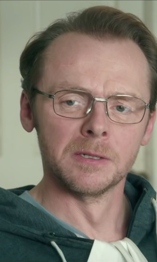 Simon Pegg with Perry Ellis Core Luxe Crew Neck T-Shirt in Absolutely Anything