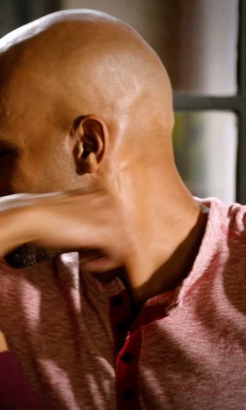 Boris Kodjoe with Lucky Brand Long-Sleeve Twisted Slub Henley in Addicted