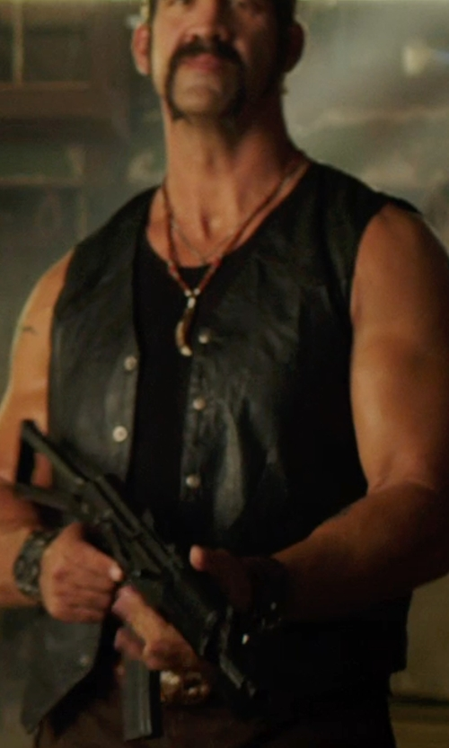 Matthew Willig with Scully Leather Vest in We're the Millers