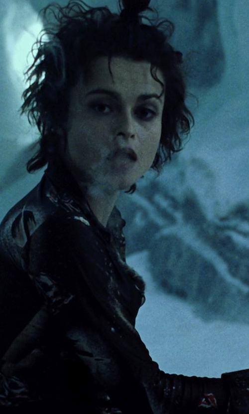 Helena Bonham Carter with Muubaa Classic Biker Jacket in Fight Club
