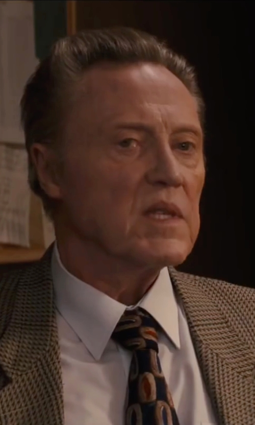 Christopher Walken with Fairfax Interlocking-Circle Jacquard Necktie in Eddie The Eagle
