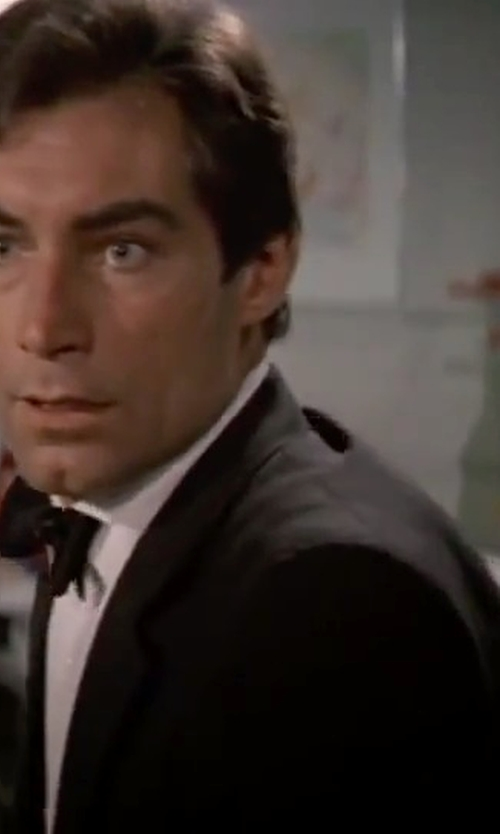 Timothy Dalton with Barneys New York Two-Button Tuxedo Suit in The Living Daylights