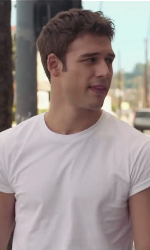 Ryan Guzman with Barneys New York Basic Crewneck T-Shirt in The Boy Next Door