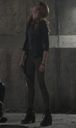 Katherine McNamara with Dr. Martens Persephone Boots in Shadowhunters