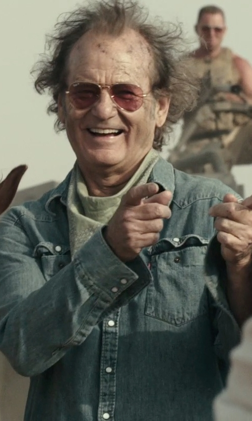 Bill Murray with Levi's Washed Chambray Western Shirt in Rock The Kasbah