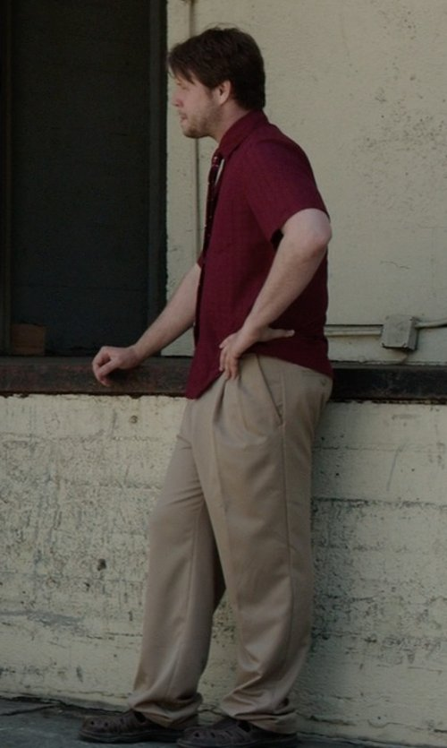 Ike Barinholtz with Savane Men's Select Edition Pleated Gaberdine Dress Pant in Neighbors