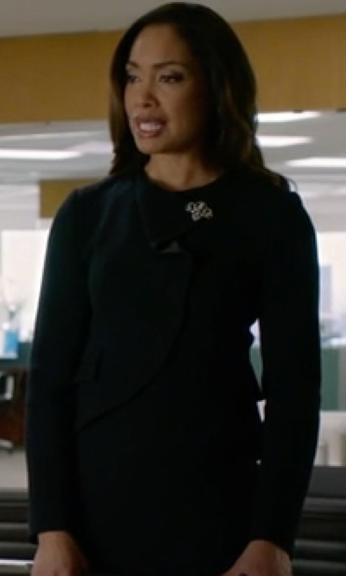 Gina Torres with Viktor & Rolf Ruffle Front Blazer in Suits