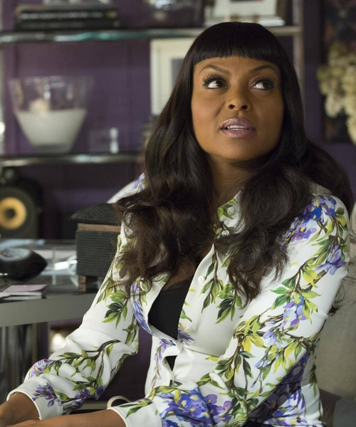 Taraji P. Henson with Gucci Floral Buttoned Shirt in Empire