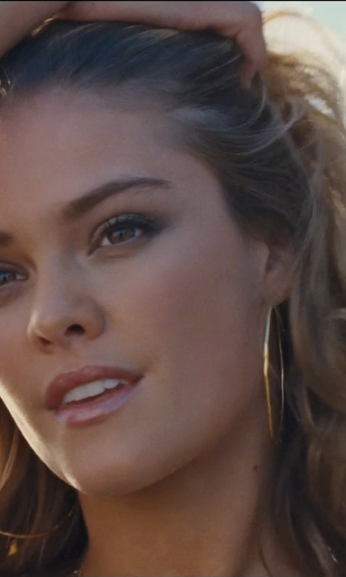 Nina Agdal with Lana	 Straight Magic Large Hoop Earrings in Entourage