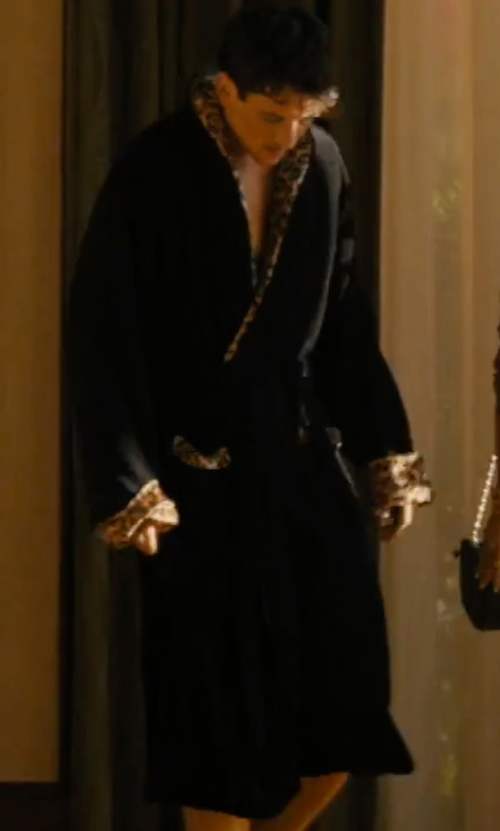 Miles Teller with Polo Ralph Lauren Soho Plaid Robe in Bleed for This