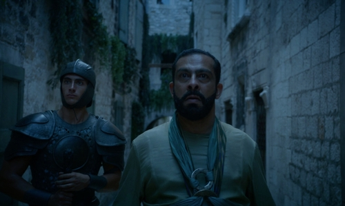 Unknown Actor with Diocleatian's Palace Split, Croatia in Game of Thrones