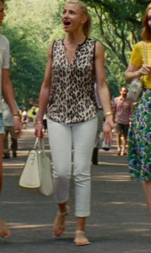 Cameron Diaz with Fergalicious Serene Flat Sandal in The Other Woman