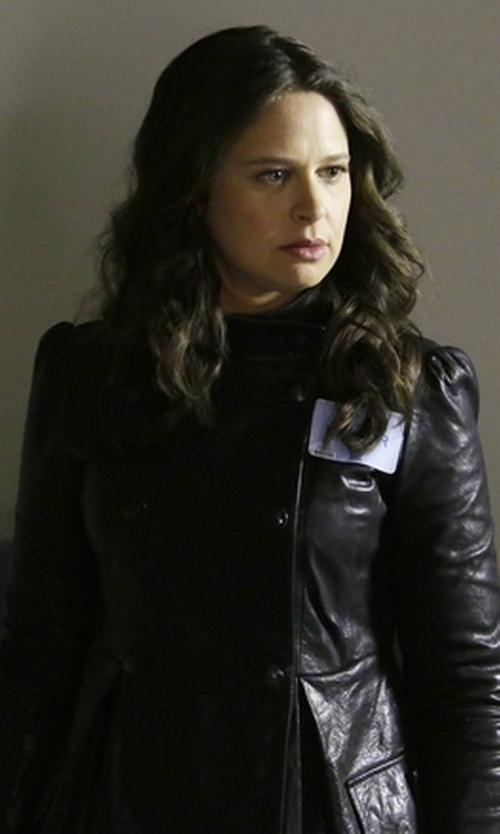 Katie Lowes with Y-3 Double Breasted Blazer in Scandal