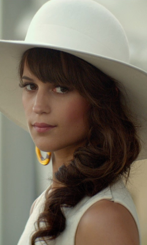 Alicia Vikander with Eric Javits  Bella Woven Floppy Sun Hat in The Man from U.N.C.L.E.