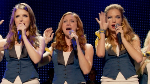 Alexis Knapp with Brooks Brothers Paisley Pocket Square in Pitch Perfect 2