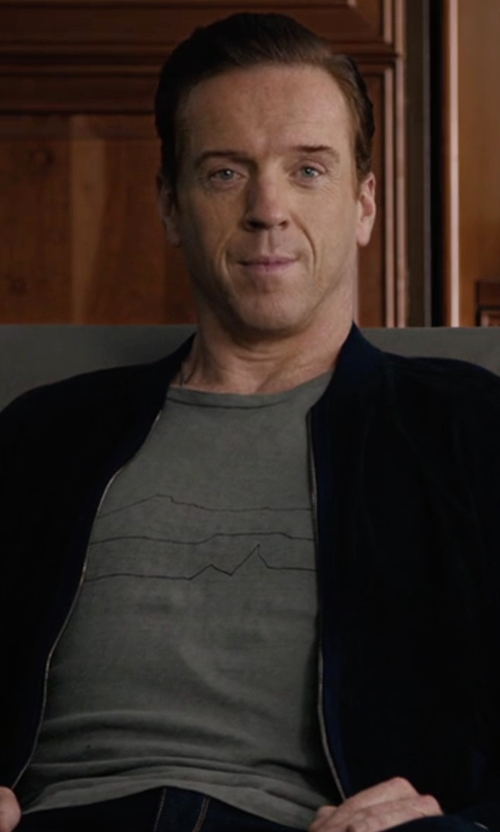 Damian Lewis with Folk Slim-Fit Mountain-Print Cotton-Jersey T-Shirt in Billions