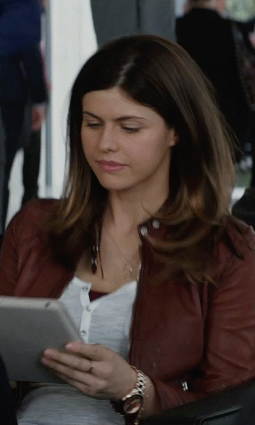 Alexandra Daddario with Royal Robbins Essential Henley Shirt in San Andreas