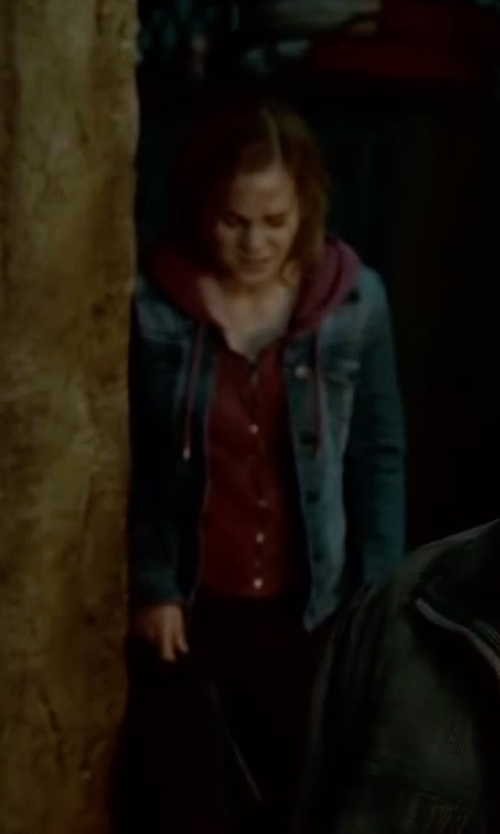 Emma Watson with Esprit Denim Jacket in Harry Potter and the Deathly Hallows: Part 2
