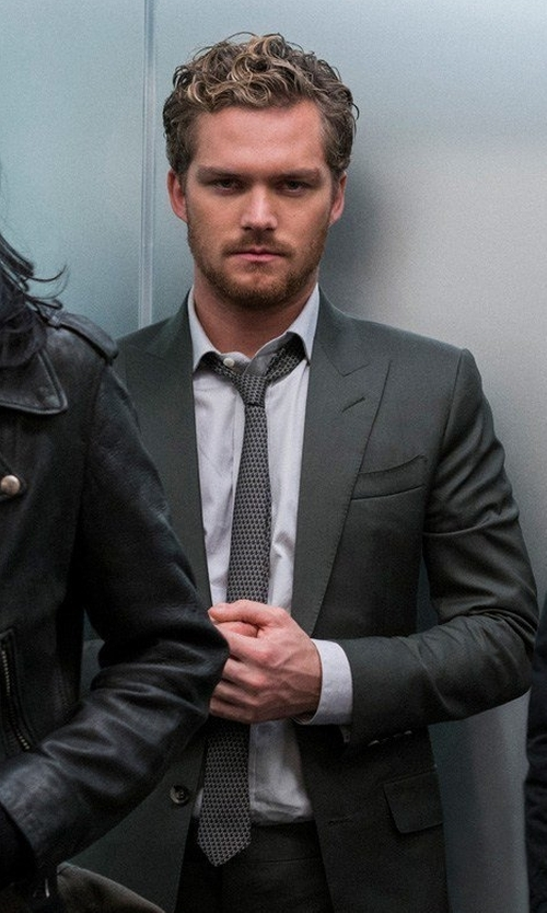 Finn Jones with Canali Geometric Silk Tie in Marvel's The Defenders