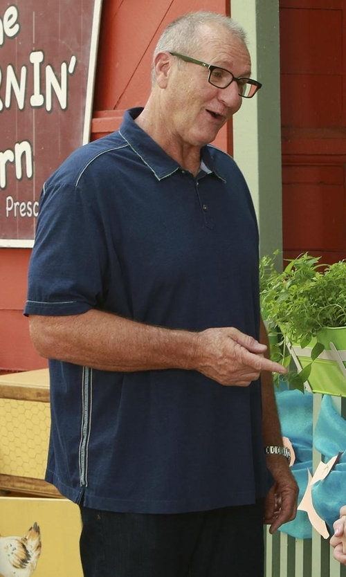 Ed O'Neill with Kenzo 'Tiger' Polo Shirt in Modern Family