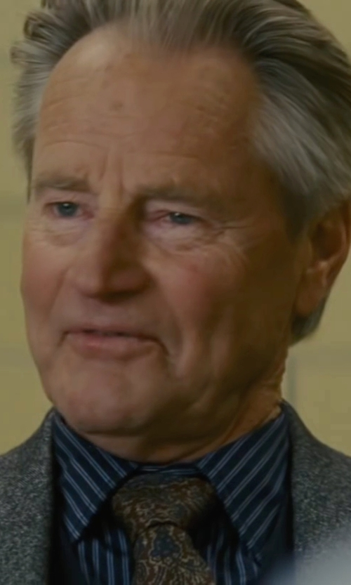 Sam Shepard with J.Z. Richards Paisley Silk Tie in Midnight Special