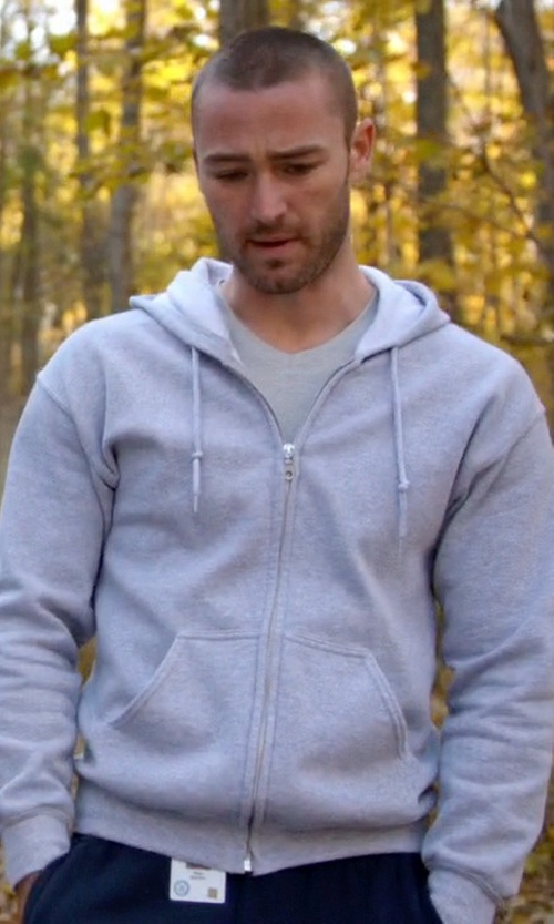 Jake McLaughlin with Alternative Hideaway Zip Hoodie Jacket in Quantico