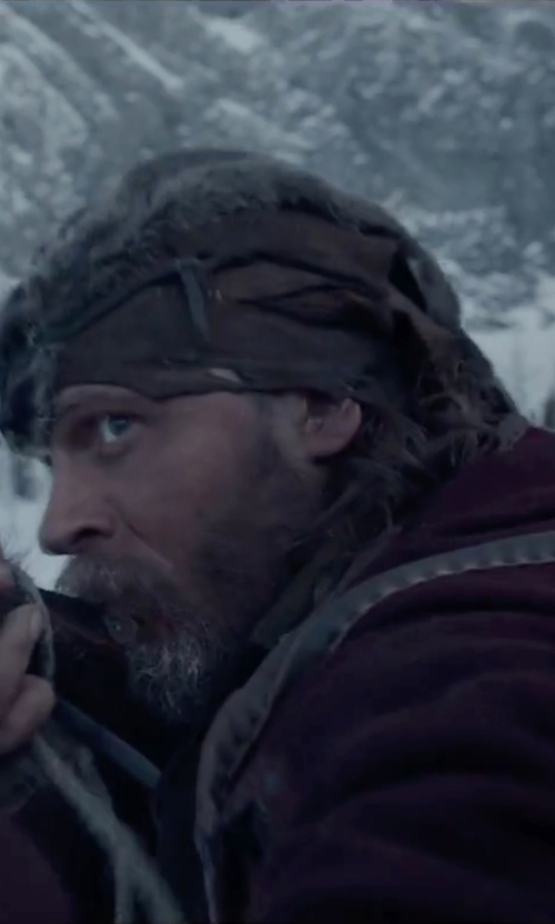 Tom Hardy with Chaos Chav Faux Beaver Fur Trapper Hat in The Revenant