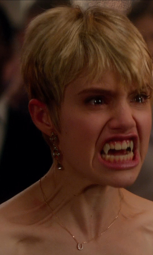Sami Gayle with Eves Addiction 3 Stone Custom Birthstone Sterling Silver Dangle Earrings in Vampire Academy