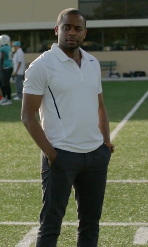 Dulé Hill with Jil Sander Tech Chino Bruce Trousers in Ballers