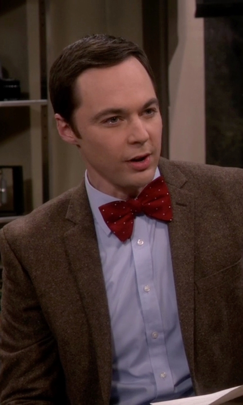 Jim Parsons with Ben Sherman Ground Color Dot Bow Tie in The Big Bang Theory