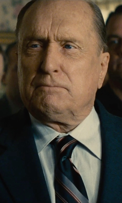 Robert Duvall with Canali Wide Striped Silk Tie in The Judge