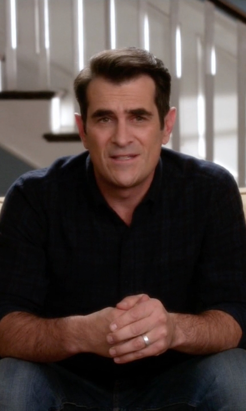 Ty Burrell with Gilded Age Long Sleeve Plaid Shirt in Modern Family