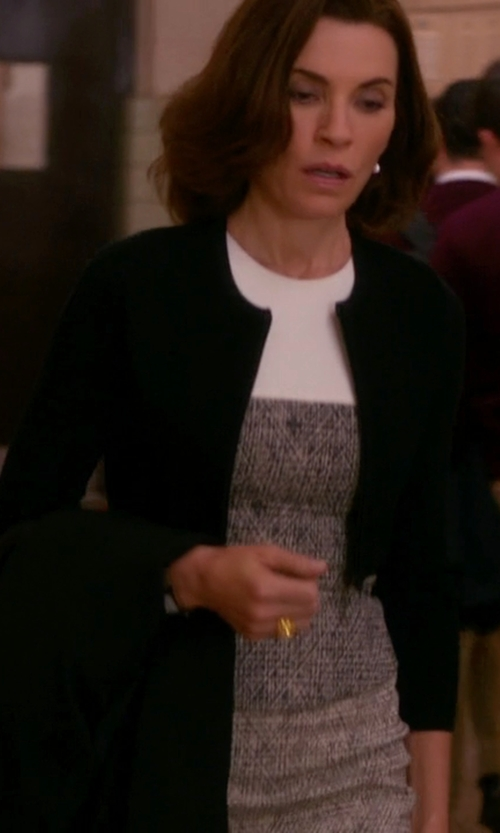 Julianna Margulies with Kaos Round  Neck Cardigan in The Good Wife