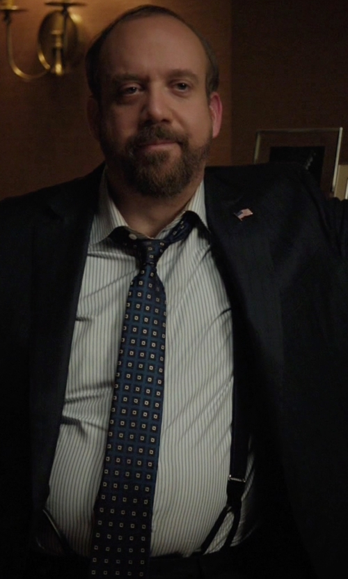Paul Giamatti with Nordstrom Men's Shop 'Perfect Squares' Silk Tie in Billions